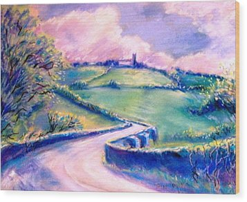 The Bridge Below Hacketstown  Wood Print by Trudi Doyle
