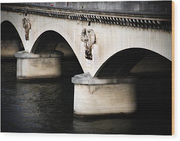 The Bridge Wood Print by Cabral Stock