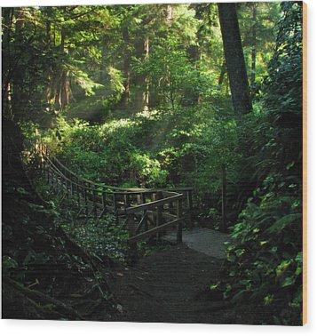 The Bridge Home Wood Print by Cliff Hawley