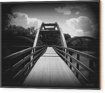 The Bridge Wood Print by Trina Prenzi