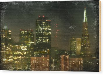 The Bright City Lights Wood Print by Laurie Search
