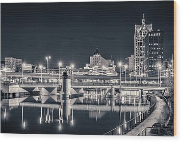 Wood Print featuring the photograph The Bright Dark Of Night by Bill Pevlor
