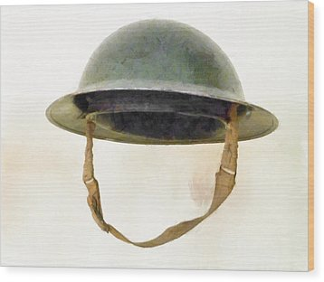 The British Brodie Helmet  Wood Print