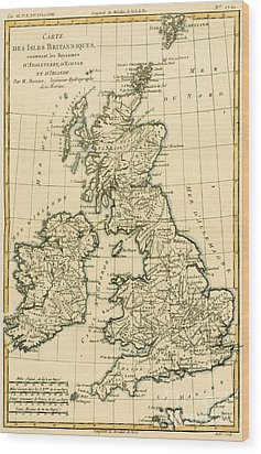 The British Isles Wood Print by Guillaume Raynal
