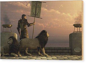 The Bronze Knight Of The Isle Of Lions Wood Print by Daniel Eskridge