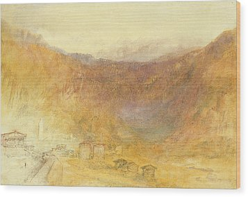 The Brunig Pass From Meiringen Wood Print by Joseph Mallord William Turner