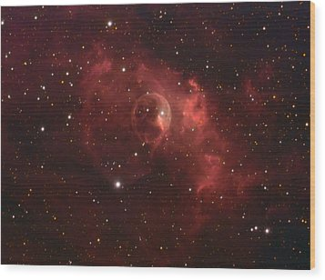 The Bubble Nebula Wood Print