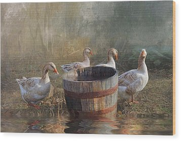 Wood Print featuring the photograph The Bucket Brigade by Robin-Lee Vieira