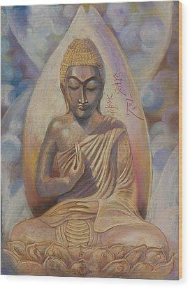 The Buddah Wood Print
