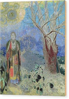 The Buddha Wood Print by Odilon Redon