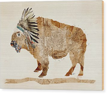 The Buffalo Wood Print