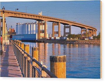 Wood Print featuring the photograph The Buffalo Skyway by Don Nieman