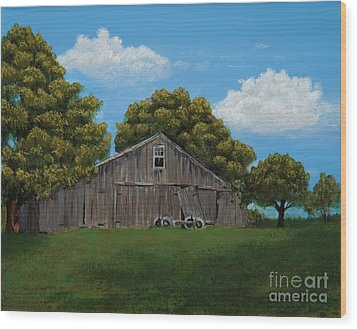 The Buggy Shed Wood Print