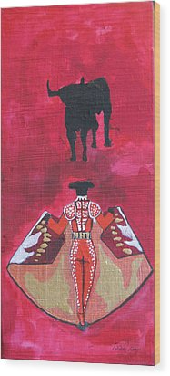 The Bull Fight  No.1 Wood Print by Patricia Arroyo