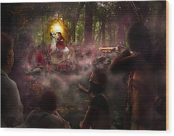 The Bullet Proof George Washington Wood Print