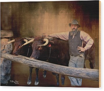 Wood Print featuring the photograph The Bullock Driver by Wallaroo Images