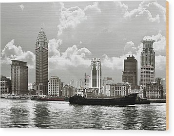 The Bund - Old Shanghai China - A Museum Of International Architecture Wood Print by Christine Till