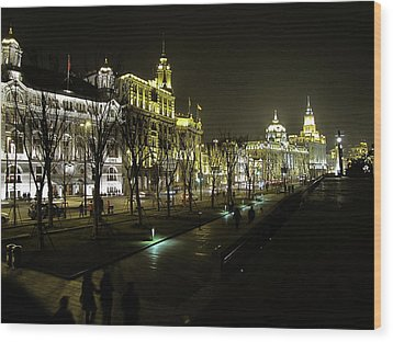 The Bund - Shanghai's Famous Waterfront Wood Print by Christine Till