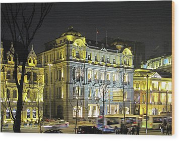 The Bund - Shanghai's Signature Strip Of Historic Riverfront Architecture Wood Print by Christine Till