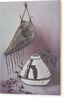 The Burden Basket Wood Print by Alanna Hug-McAnnally