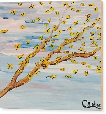 The Butterfly Tree Wood Print