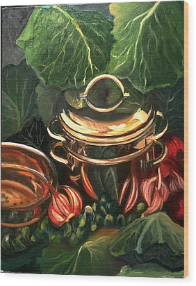 The Cabbage Pot Wood Print by Patricia Reed