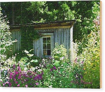 The Cabin Wood Print by Nick Diemel
