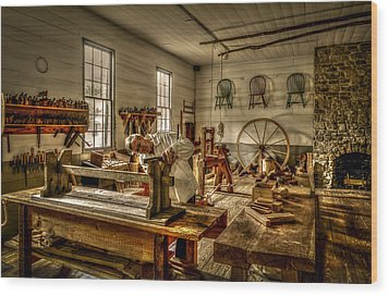 Wood Print featuring the photograph The Cabinetmaker by David Morefield
