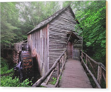 The Cable Grist Mill Wood Print by Thomas Schoeller