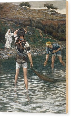 The Calling Of Saint Peter And Saint Andrew Wood Print by Tissot