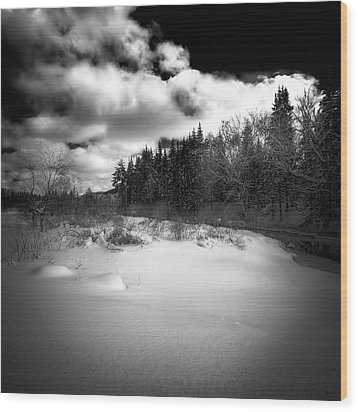Wood Print featuring the photograph The Calm Of Winter by David Patterson