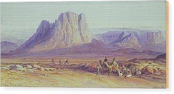 The Camel Train Wood Print by Edward Lear