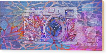 Wood Print featuring the digital art The Camera - 02c3t by Variance Collections