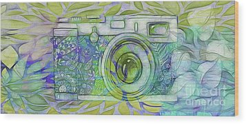 Wood Print featuring the digital art The Camera - 02c5b by Variance Collections