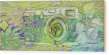 Wood Print featuring the digital art The Camera - 02c5bt by Variance Collections
