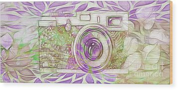Wood Print featuring the digital art The Camera - 02c6 by Variance Collections