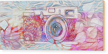 Wood Print featuring the digital art The Camera - 02c8v2 by Variance Collections