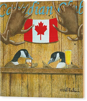 The Canadian Club... Wood Print by Will Bullas