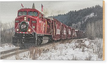 The Canadian Pacific Holiday Train Wood Print