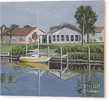 The Canal Awakens Wood Print by Sodi Griffin
