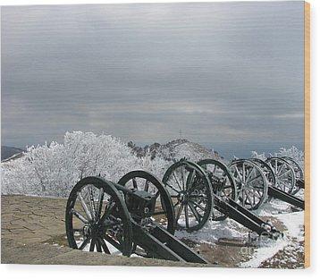 The Cannons At Shipka Wood Print