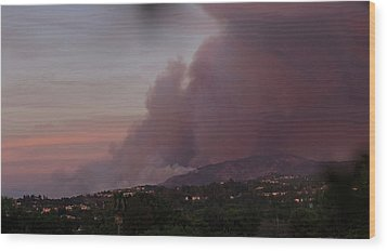 The Canyon Fire Wood Print by Angela A Stanton