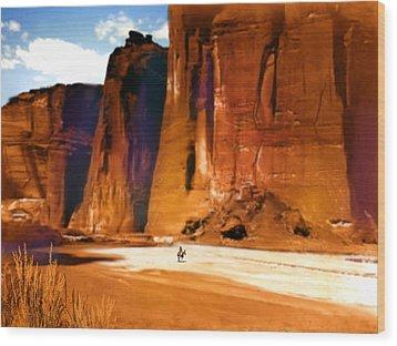 The Canyon Wood Print by Paul Sachtleben