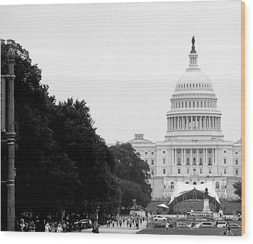 Wood Print featuring the photograph The Capital Building by Laura DAddona