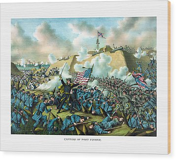 The Capture Of Fort Fisher Wood Print by War Is Hell Store