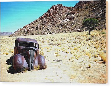 Wood Print featuring the photograph The Car by Riana Van Staden