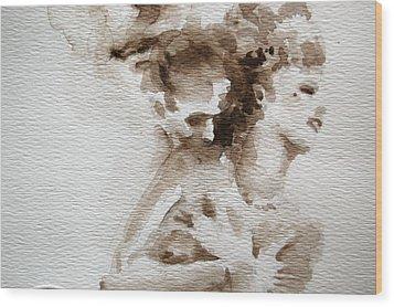 The Caress Wood Print by Jea DeVoe