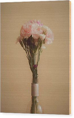 Wood Print featuring the digital art The Carnations by Ernie Echols