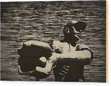 The Catch Wood Print by Bill Cannon