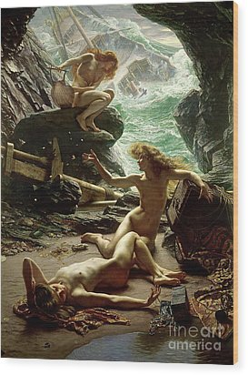The Cave Of The Storm Nymphs Wood Print by Sir Edward John Poynter